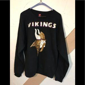 Hans men's Vikings sweatshirt, medium, black